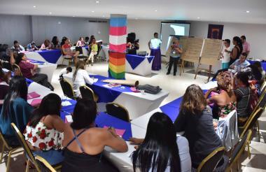 Aspecto del encuentro 'Enterezas' de Caribe Afirmativo.