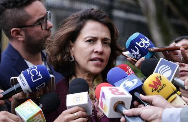Nancy Patricia Gutierrez, ministra del Interior.