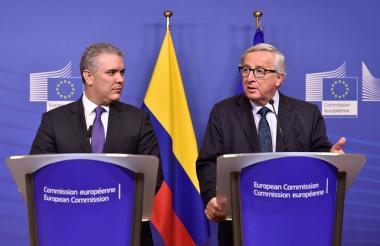 El presidente de la República,Iván Duque, se reunió con el presidente de la Comisión Europea, Jean Claude Juncker en Bruselas, Bélgica.