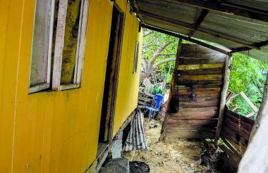 Una de las viviendas afectadas en Puerto Colombia.