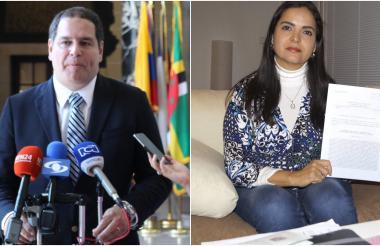 Luis Florido, diputado del partido opositor Voluntad Popular y Tamara Sujú, activista de derechos humanos, nuevos ciudadanos españoles.