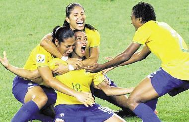 Jugadoras de la Selección de Brasil.