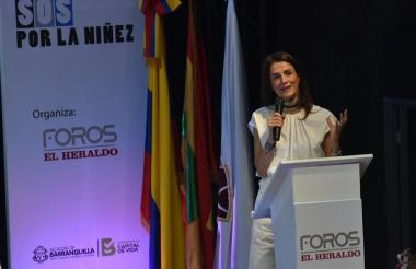 Juliana Pungiluppi, directora del Instituto Colombiano de Bienestar Familiar (ICBF).