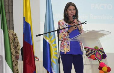 Martha Lucía Ramírez, vicepresidente de Colombia.