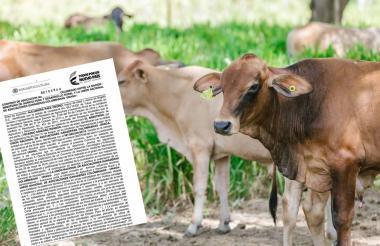 La imagen muestra la primera página del convenio suscrito entre el Minagricultura y Unaga en el Gobierno Santos.