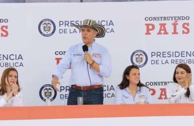 El presidente Iván Duque en el taller Construyendo País en Chinú, Córdoba.