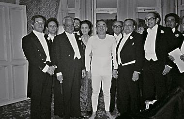 Germán Vargas Cantillo y sus amigos. Entre esos, Gabriel García Márquez.