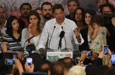 Fernando Haddad, excandidato de izquierda en Brasil.