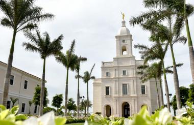 Fachada del primer templo mormón en Barranquilla y la Costa Caribe.