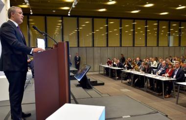 El presidente Iván Duque en el Congreso Internacional Fitac.