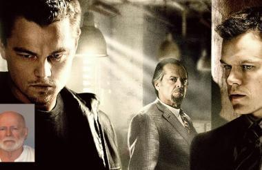 """El papel de James """"Whitey"""" Bulger, lo recreó Jack Nicholson. En la película también actuaron Leonardo Di Caprio y Matt Damon."""