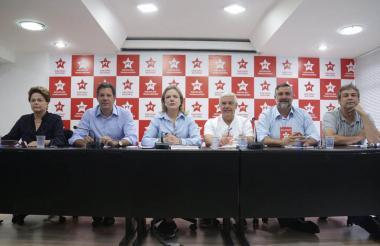 Directivos del Partido de los Trabajadores de Brasil.
