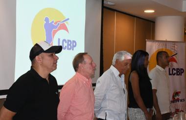 Presentación de la Liga Colombiana de Béisbol Profesional en el salón Caribe del Country Club.