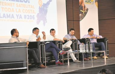De izquierda a derecha: Felipe Fonseca, Anatolio Santos, José F. Zúñiga, Luis C. Morales y Luis F. Dangond.