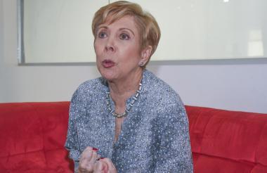 Consuelo Luzardo, en la redacción de EL HERALDO.