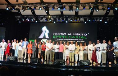 Ganadores del premio en la edición de 2017.