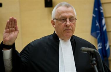 James Stewart, fiscal de la Corte Penal Internacional, CPI.