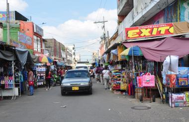 Aspecto de la zona comercial de Maicao.