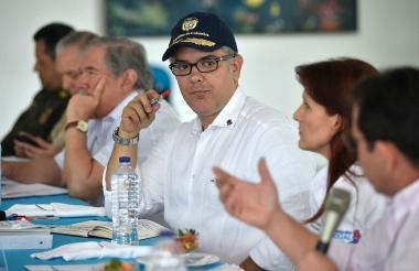 El presidente Iván Duque presidió el consejo de seguridad en Santa Marta.