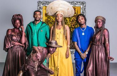 La agrupación ChocQuibTown en la grabación del videoclip 'Pa' Olvidarte'