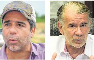 El alcalde Alejandro Char y el gobernador Eduardo Verano.
