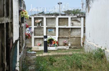 Cementerio de Albornoz, en el suroccidente de Cartagena.