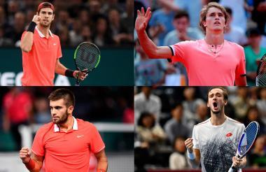 Khachanov (22) superó a Djokovic en la final del Masters 1.000 de París, Alex Zverev (21), de Alemania, es el actual número cinco del ránking, Borna Coric (21) fue campeón del mundial de tenis juvenil en 2015 y Daniil Medvedev (22) consiguió tres títulos en la temporada 2018.