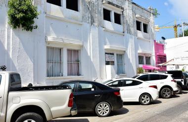 Fachada de la cárcel San Diego, en Cartagena.