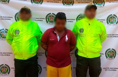 La Policía presentó al presunto violador en Montería.