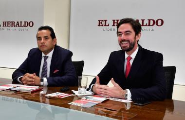 Andrés Vásquez y Rafael Nadal en EL HERALDO.