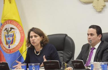 Nancy Patricia Gutiérrez, ministra de Interior.