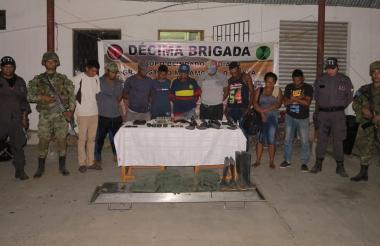 Personas capturadas tras operativo.