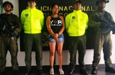 Arleida Patricia Manco David, alias la Mona o la Zarca, condenada.