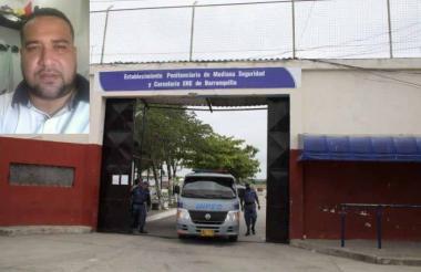 Penitenciaría El Bosque de Barranquilla, donde se han registrado varios casos de presunta corrupción. En el recuadro el interno Julio Mario Rodríguez Pertuz.