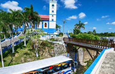 La iglesia Santo Domingo de Guzmán, ubicada en el corazón del pesebre del Atlántico.