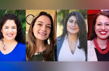 De izquierda a derecha Cindy Polo Logreira, Julia Salazar, Jessica Ramos y Catalina Cruz