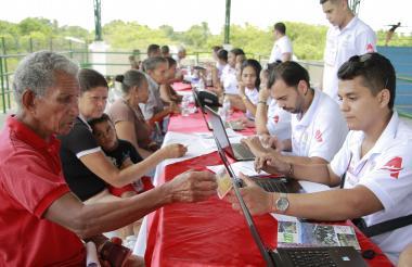 Jornada de registro de venezolanos en el sur del Atlántico.