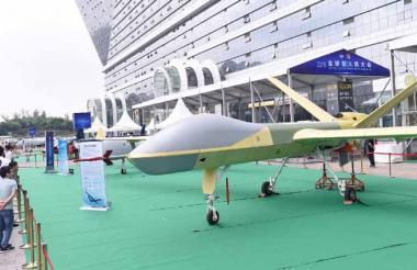 El sistema de aviones no tripulados Wing-Loong II fue exhibido en septiembre en la Conferencia Mundial de Drones 2018 en Chengdu, suroeste de China.