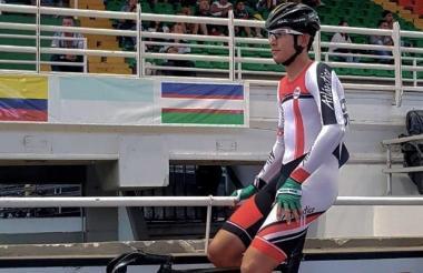El ciclista barranquillero Nelson Soto en Cali.