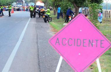 En el Cesar existen seis tramos viales considerados de los más peligrosos del país. En 2018 se han incrementado las cifras de accidentalidad.