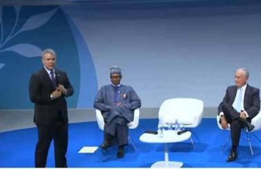 El presidente Duque habla en el Foro por la Paz.