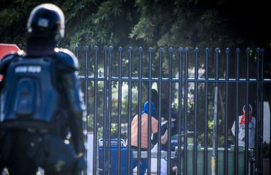 El Esmad controló la protesta.