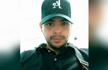 Samuel Zúñiga, de 22 años de edad, fallecido en el accidente.