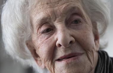 La poetisa uruguaya de 95 años Ida Vitale.