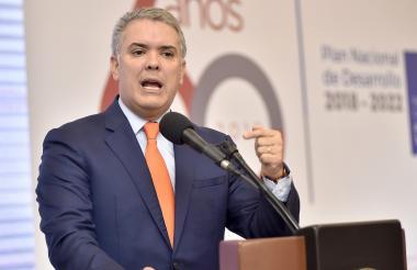 Presidente de la República Iván Duque Márquez.