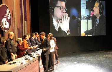 Alberto Salcedo Ramos, Mario Jursich y Ángel Batista  fueron los ganadores en la categoría Entrevista en Radio.