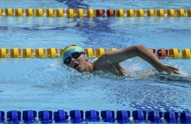 Sebastián Romero durante su competencia de ayer.