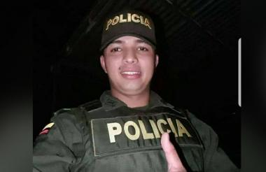 Brian Alexis Holguín Mesa, policía fallecido.