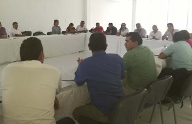 Aspecto de la reunión entre las entidades del proyecto.