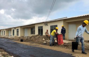Panorama de las obras del proyecto de vivienda.